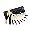 Wool Makeup Brush Set with Free Black Case 9PCS