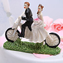 Cycling Newlyweds Cake Topper