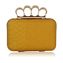 Faux Leather With Gold Hardware Evening Bag/Clutch (More Colors)