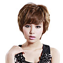 Hand Tied Short Natural Wavy Mixed Hair Wig with UVP Antimicrobial Net
