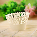 Exquisite Cutout &quot;LOVE&quot; Design Laser Cut Cupcake Wrapper (Set of 12)