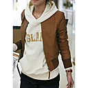 Standing Collar Long Sleeve Career/ Casual PU Jacket With Pockets (More Colors)