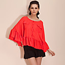 TS Bat Sleeve Ruffle Finish Blouse Shirt (More Colors)