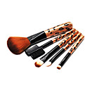 Leopard Design Cosmetic Brush Set (5-Piece)