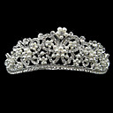 Alloy With Rhinestone And Pearl Dancing Butterfly Bridal Tiara