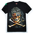 PIRATE SKULL print fluorescenza t-shirt
