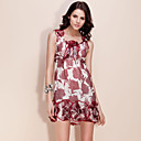 TS Flower Hem Printed Silk Dress (More Colors)