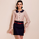 TS Polka Dot Skirt with Bow Tie Belt