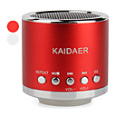 Portable Cylinder Style Resonance Speaker (USB and MicroSD Reader, Assorted Colors)