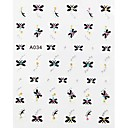Star 3D Stereoscopic Carved Nail Sticker(3pcs)
