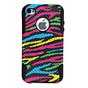 Curves Pattern Lagging Silicone and PC Case for iPhone 4 and 4S (Colorful)