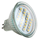 mr16 1-24x3528 SMD 1.5W 50-60lm 2800-3200K blanco clido lugar bombilla LED (12v)