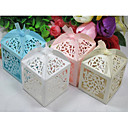 Laser Cut Olive Shaped Favor Box - Set of 12 (More Colors)
