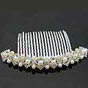 Gorgeous Rhinestone With Imitation Pearls Wedding Hair Combs