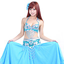 Dancewear Polyester With Beading Belly Dance Performance Top And Belt For Ladies More Colors