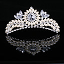 Gorgeous Imitation Pearl And Cubic Zirconia In Alloy Tiara