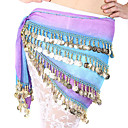 Dancewear Chiffon With Coins Belly Dance Performance Belt For Ladies More Colors