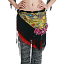 Performance Dancewear Satin With Tassels/Appliques Belly Dance Belt/Hip Scarf For Ladies More Colors