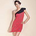 TS One-shoulder Polka Dot Dress