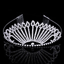 Gorgeous Cubic Zirconia In Alloy Peacock Shaped Tiara