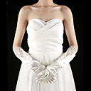 Satin Fingertips Elbow Length With Pearls Bridal Gloves (More Colors)