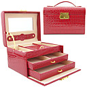 Princess Alligatoring Leatherette Ladies'Jewelry Box(More Colors)