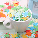 Little Maple Leaf shaped Paper Confetti - Pack of 350 Pieces (Random Color)