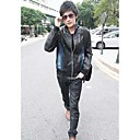 Man Fashion Denim Leather Jacket