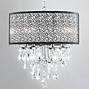 Modern 4 - Light Pendant Lights with Crystal Drops