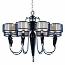 Artistic Ceramic Chandeliers with 8 Lights Fabric Shades