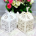 Beautiful Flowers Laser cut Favor Box - Set Of 12(More Colors)