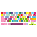 "Colorful Design Keyboard Cover for 13"" 15"" Macbook Pro"