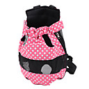 Pink Spotted Canvas Legs-Out Mesh Dog Carrier Package (S-L)