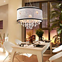 Artistic Crystal Pendant Lights with 5 Lights in Fabric Shade
