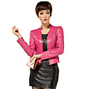 Long Sleeve Wedding/ Career Lambskin Leather Jacket (More Colors)