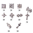 10st 3d abstracte stijl diamond nail art decoratie