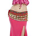 Polyester With 228 Coin Performance Dance Belt For Ladies More Colors