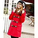Lady Casual Button Hoodie Coat
