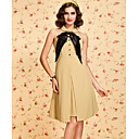 TS VINTAGE Contrast Color Bow Tie Dress