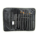 9 Stck schwarzes Make-up-Pinsel-Set