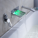 Sprinkle® - door lightinthebox - led waterval bad kraan met uittrekbare handdouche (muurbevestiging)