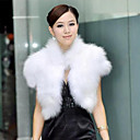 Sleeveless Standing Collar Party Faux Fur Vest(More Colors)