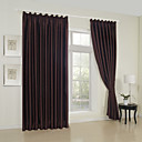 (Two Panels) Traditional Embossed Texture Blackout Curtains