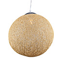 Globe Shaped 1-Light Pendant Light Eletroplate Finish (D15.7)