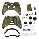 Replacement Carbon Fiber Style Housing Case for Xbox 360 Wireless Controller (Army Green)