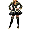 Womens Black Pirate Cosplay Kit Sexy Costumi di Halloween Fancy