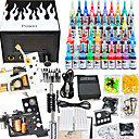 2 Cast Iron Tattoo Gun Kit for Lining and Shading LCD Power Supply(40 5ml Colors Included)