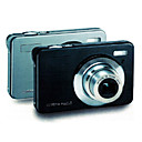 DC-1530 Black/Silver Digital Camera with HD720P HD Video Recording