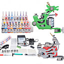 Professional Tattoo  Kit with 2 guns and New LCD Dual Output Power Supply