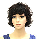 Capless 100% Human Hair  short Wavy Fashion wigs